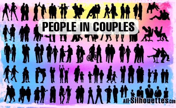 People in Couples – All-Silhouettes