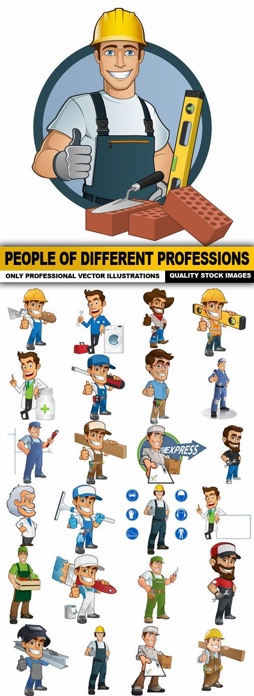 People Of Different Professions – 25 Vector