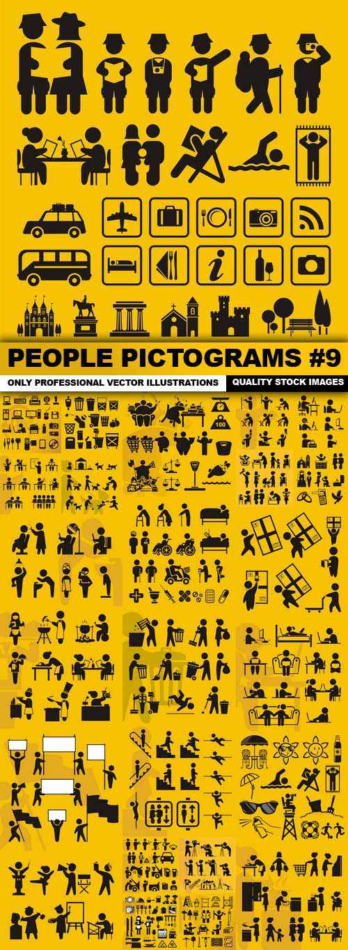 People Pictograms #9 – 25 Vector