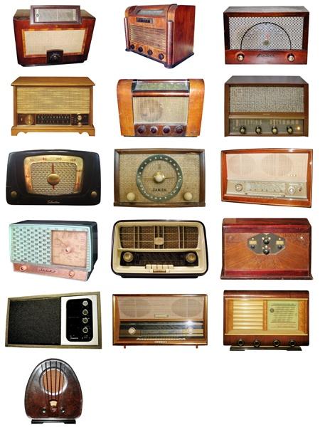 Photo Objetcs: 16 Vintage Radios