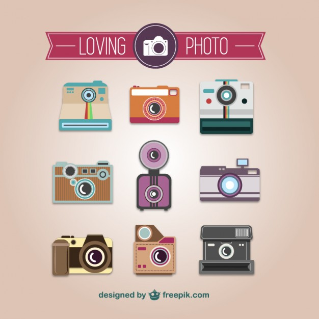 Photography collection of vintage cameras vector    Vector | Free Download