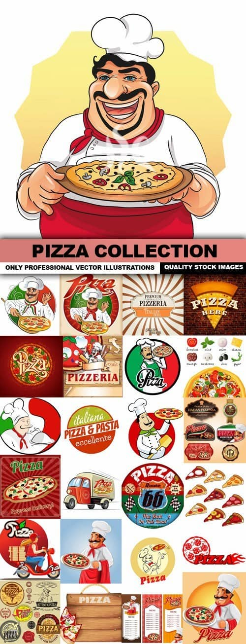Pizza Collection – 25 Vector