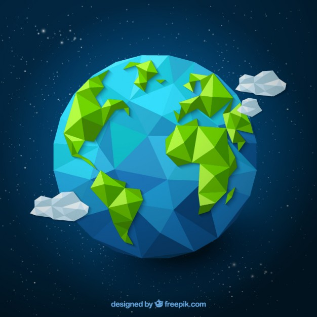 Polygonal earth  Vector | Free Download