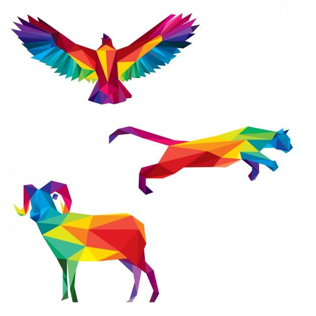 Polygonal wild animals