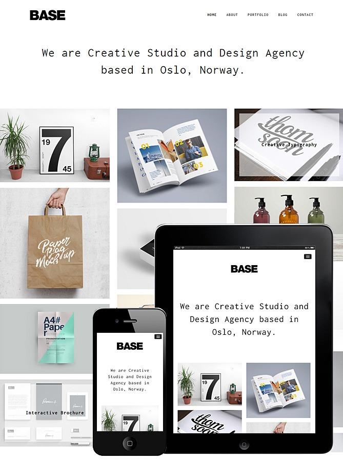 Base Responsive Theme WordPress