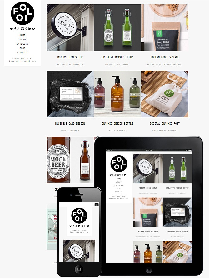 Folio Responsive Theme WordPress