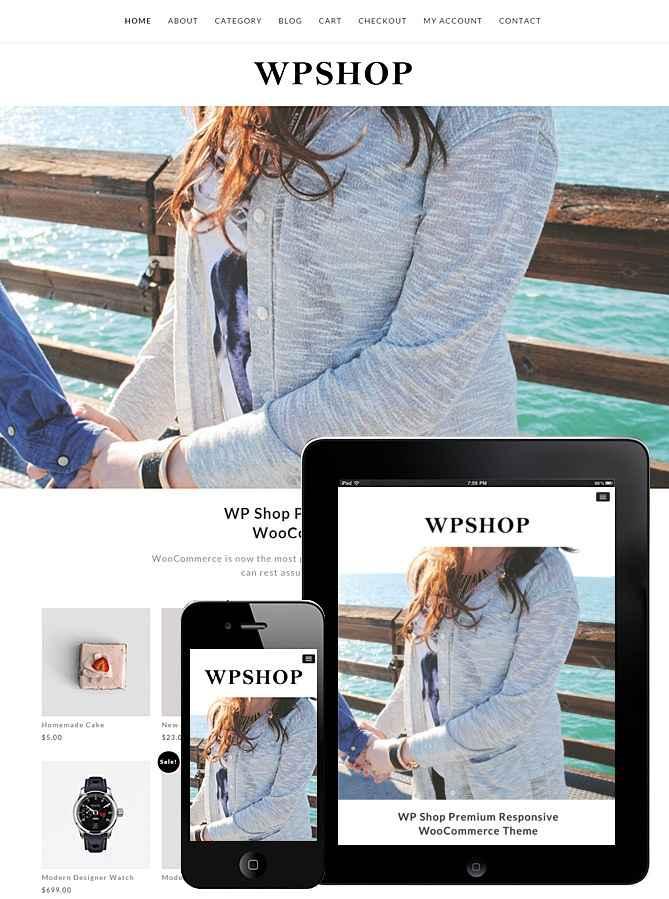 WP Shop Responsive WooCommerce Theme WordPress