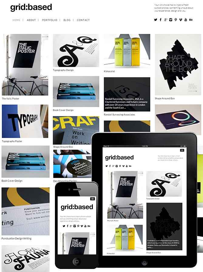 Grid Based Theme Responsive – FullScreen
