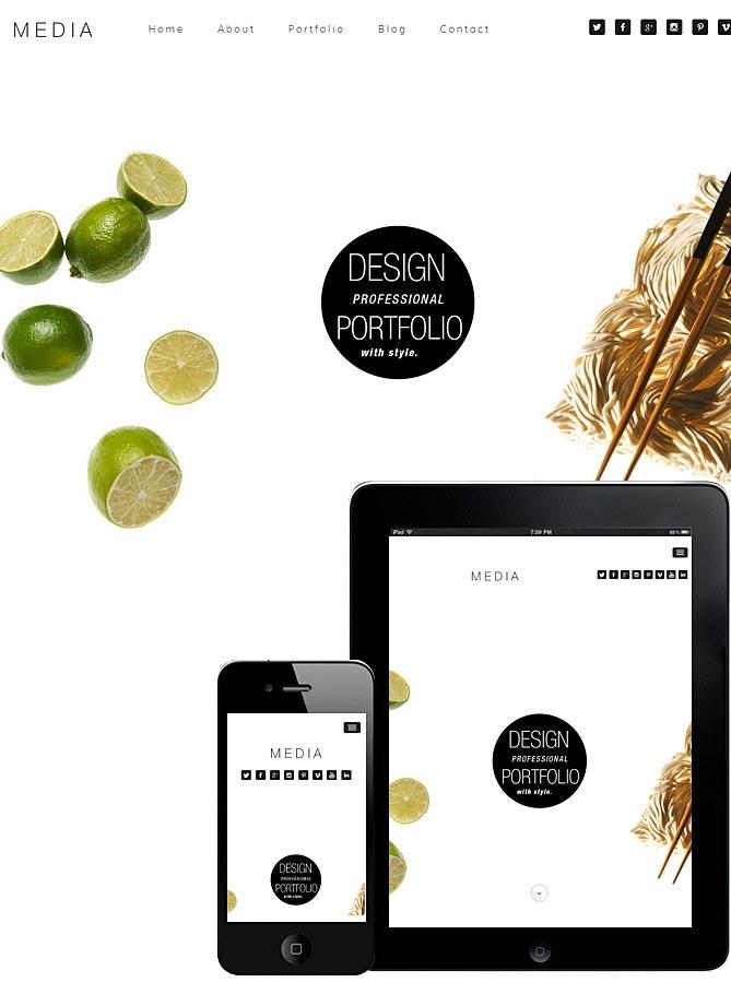 Media Theme Responsive – OnePage