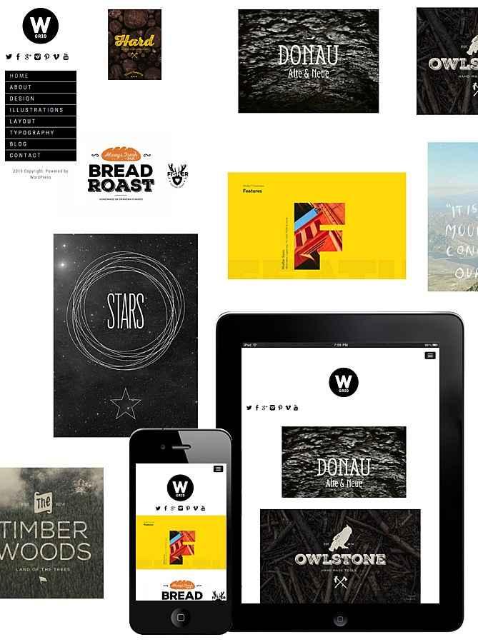 Wide Grid Responsive Theme – Fullscreen