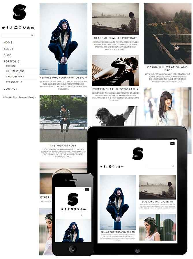 Side Grid Theme Responsive – FullScreen