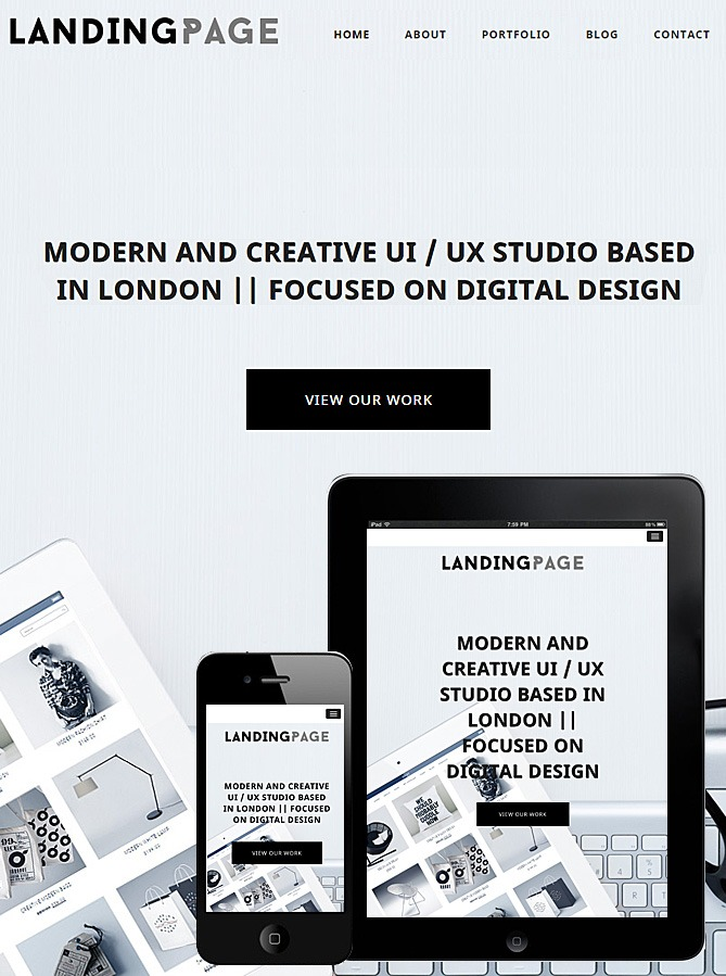 Landing Page Responsive Theme