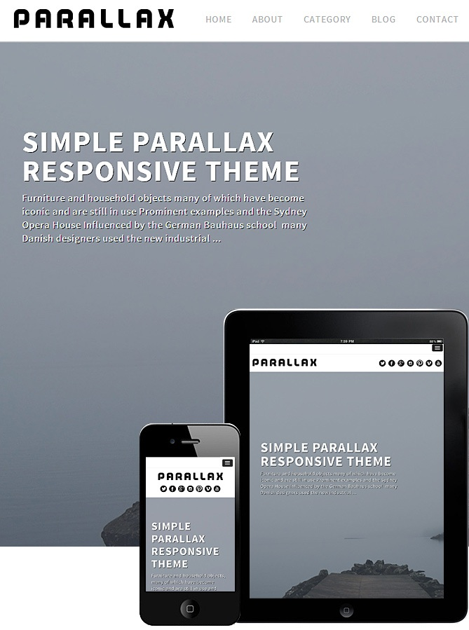 Parallax Theme Responsive