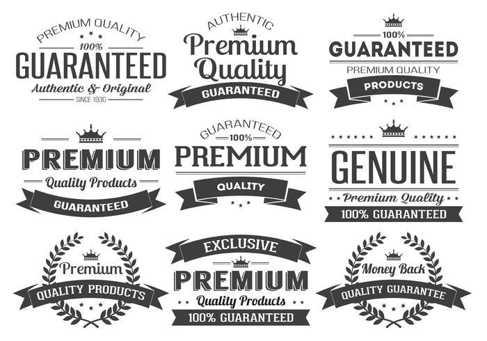 Premium Quality Label Vector Insignias