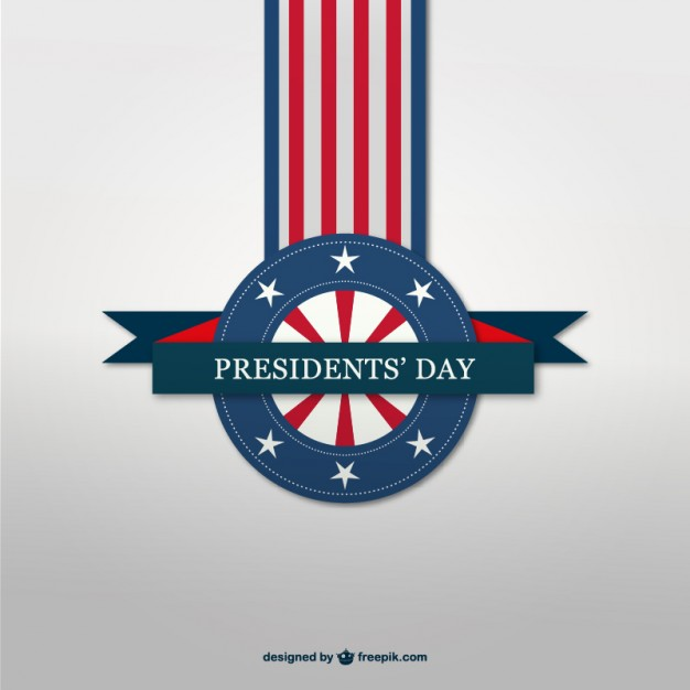 President's day vector badge