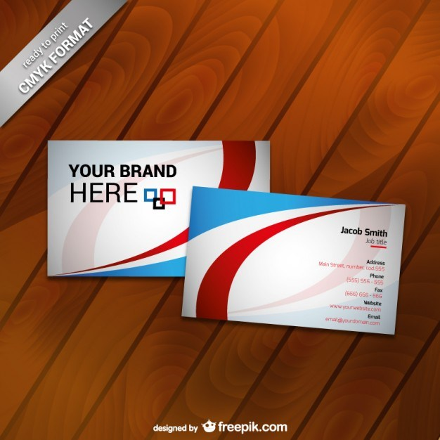 Printable business card template  Vector | Free Download