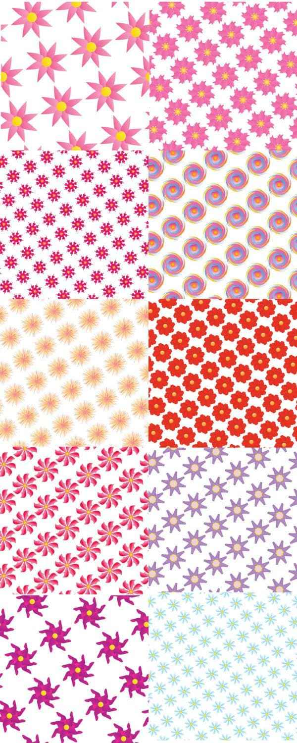 Printing pattern background