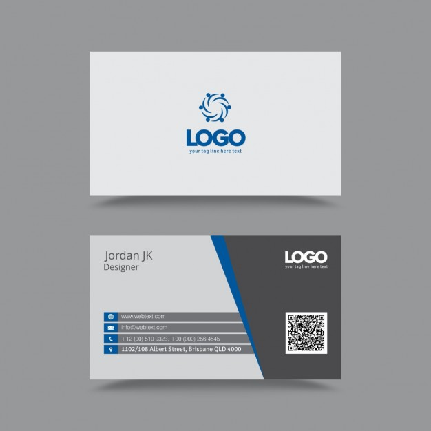 Professional Clean Business Card  Vector | Free Download