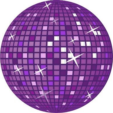 Purple Retro Disco Ball