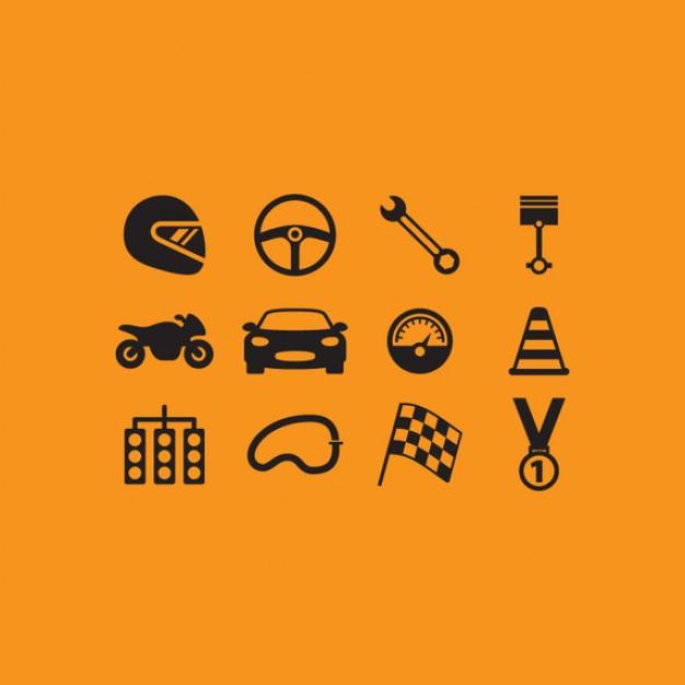 Racing icon set  Vector   Free Download