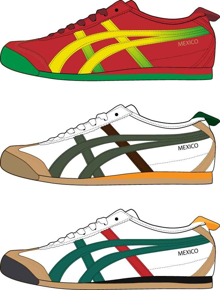 Realistic sports shoes vector design 01