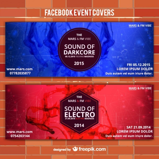 Red and blue event vector banners   Vector | Free Download