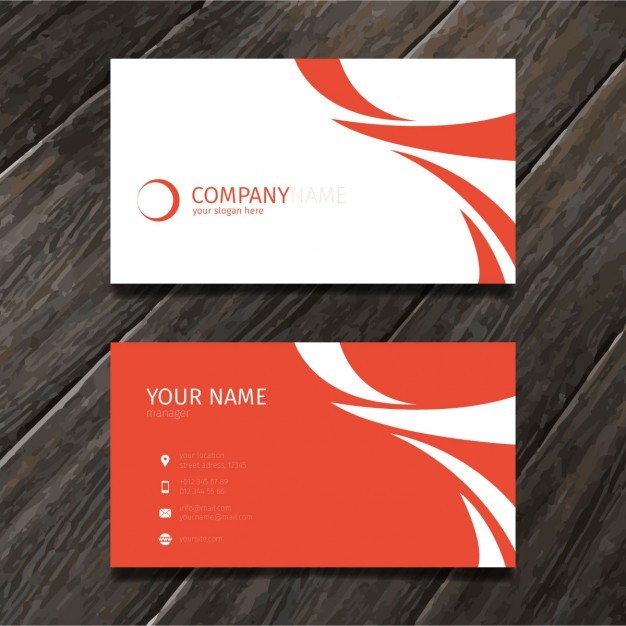 Red minimal abstract business card tempate  Vector | Free Download