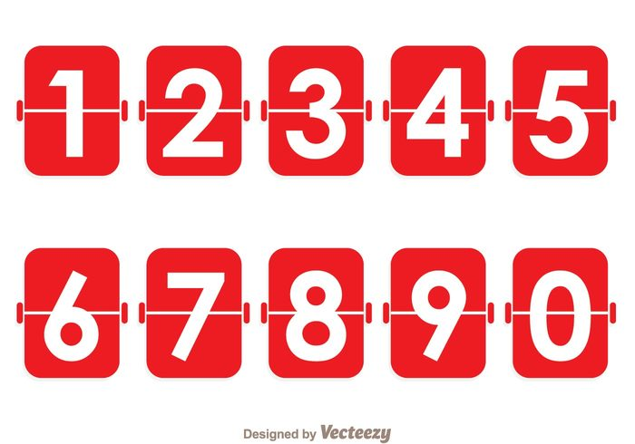 Red Number Counter – Download Free Vector Art, Stock Graphics & Images