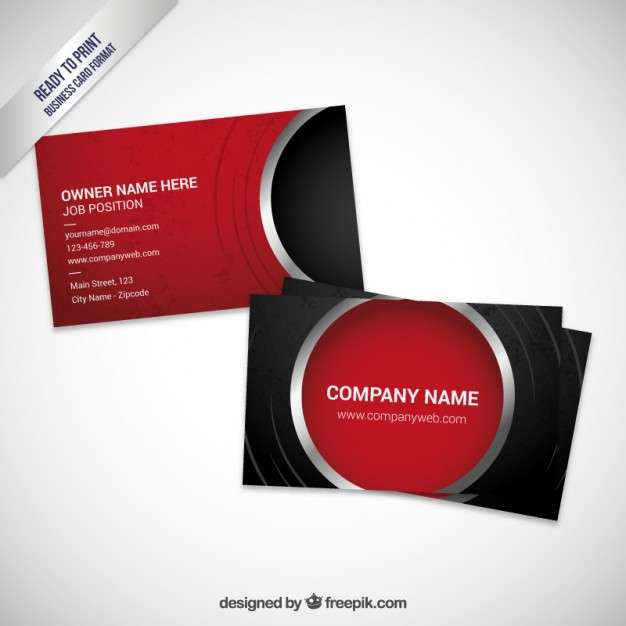 Red visit card template  Vector | Free Download