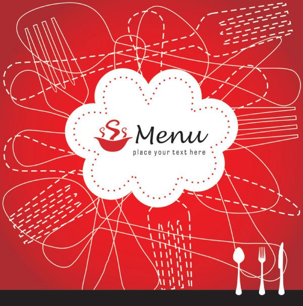 Restaurant menu cover background vector 01