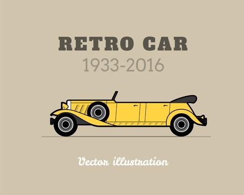 Retro car poster vector design 05