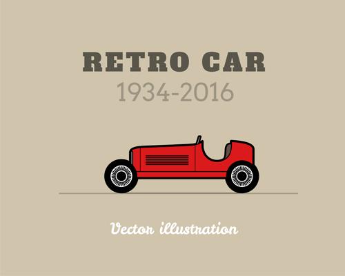 Retro car poster vector design 02
