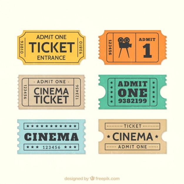 Retro cinema tickets  Vector | Free Download