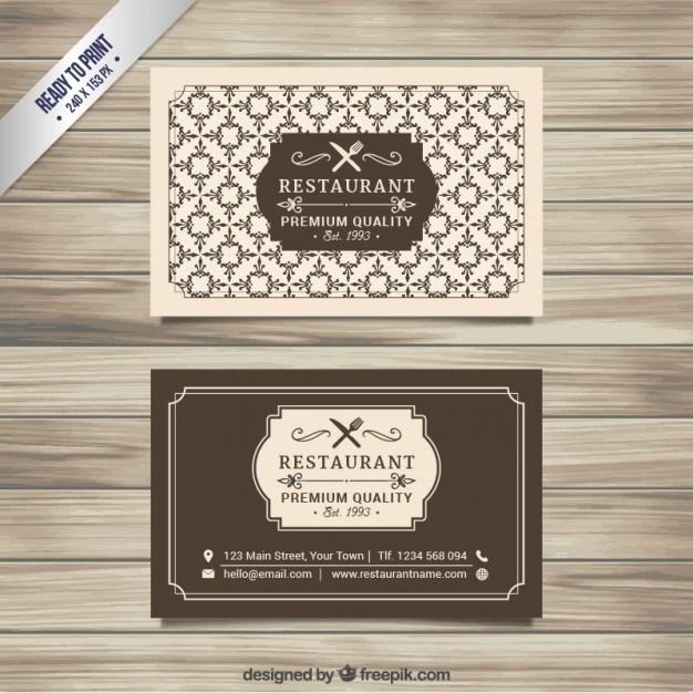 Retro restaurant card  Vector | Free Download