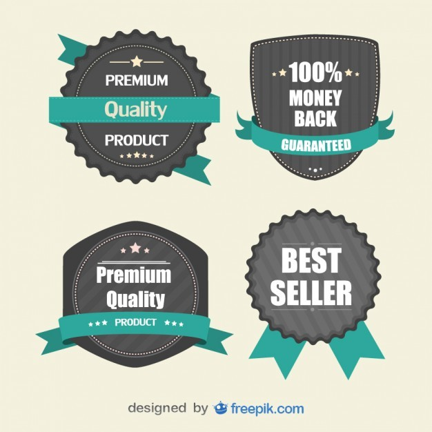 Retro Stickers for Marketing   Vector | Free Download
