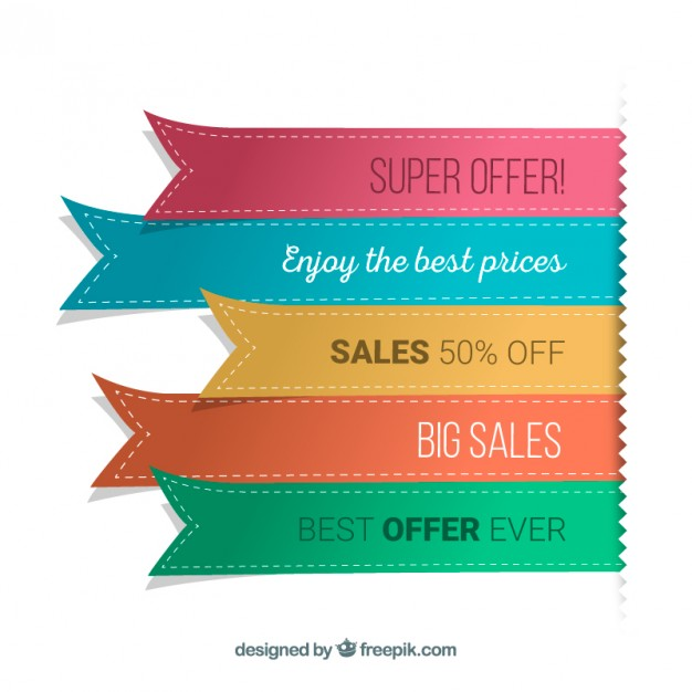 Ribbon banners  Vector | Free Download