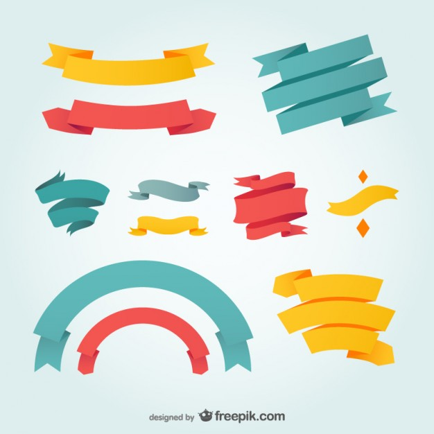 Ribbons design vector graphic  Vector | Free Download