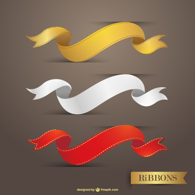 Ribbons vector graphic free download
