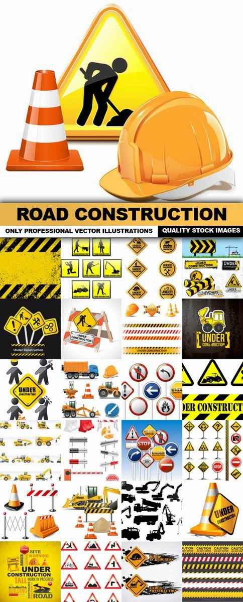 Road Construction – 25 Vector