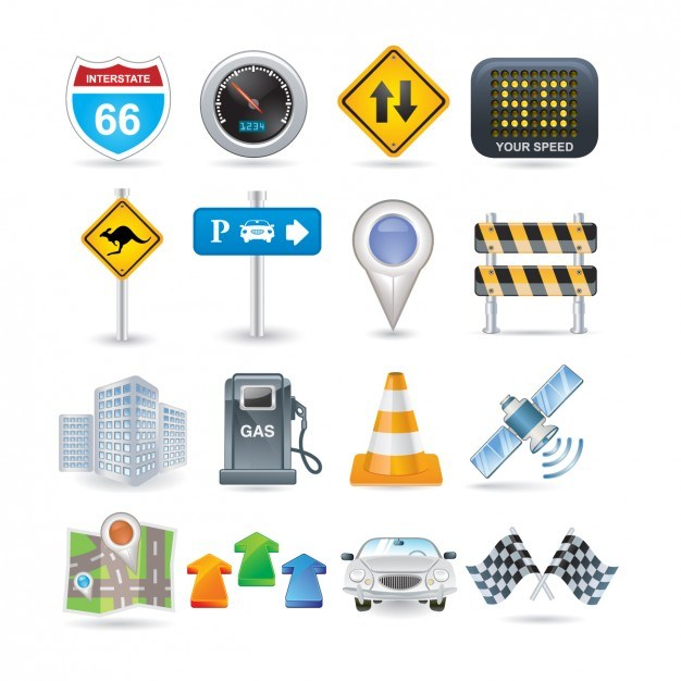 Road Icon Set  Vector | Free Download