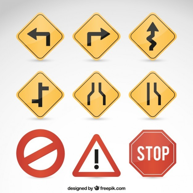 Road signs  Vector   Free Download