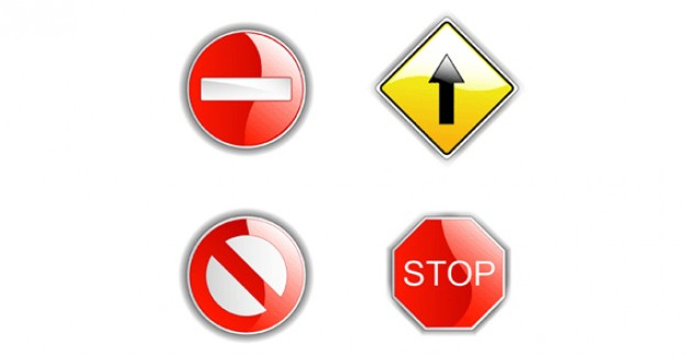 039 Road Signs  Vector | Free Download