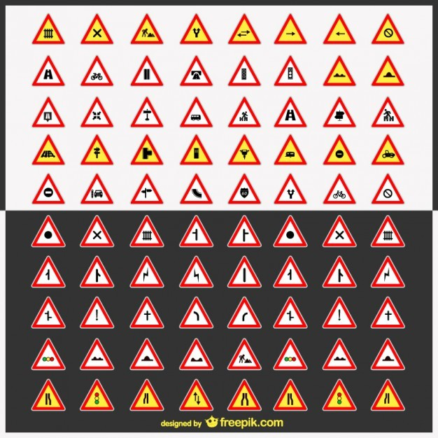 Road signs vector pack   Vector | Free Download