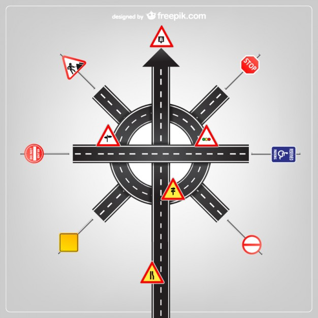 Road signs vector template   Vector | Free Download