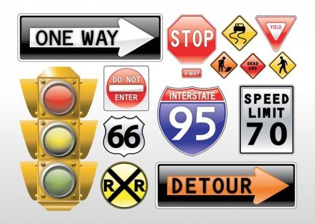 Road Signs Vectors  Vector | Free Download