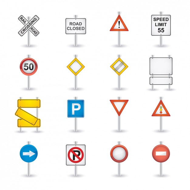 Road Sings Icon Collection  Vector | Free Download