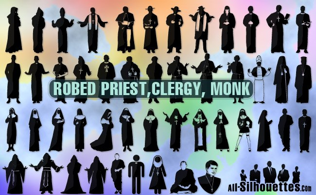 Robed priest clergy monk