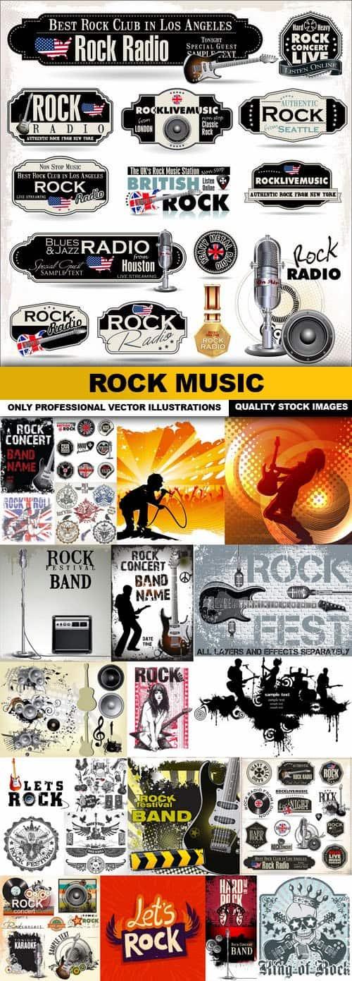 Rock Music – 25 Vector