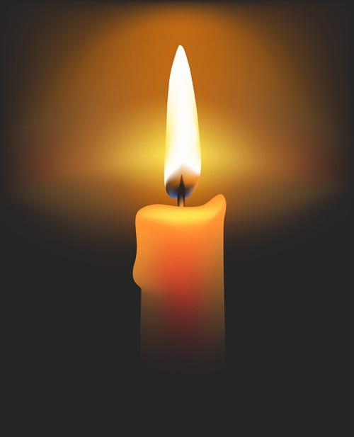 Romantic candle elements vector 01