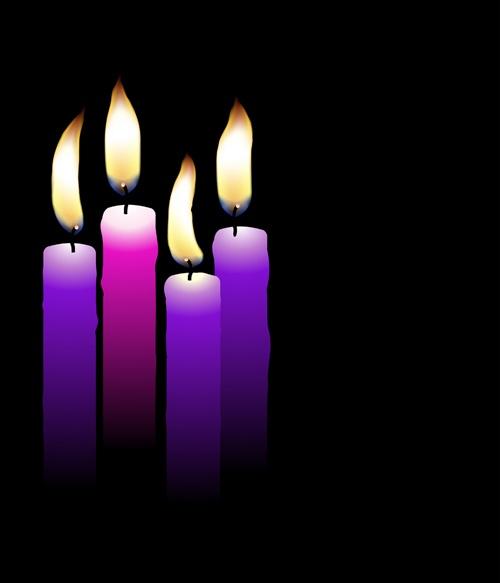 Romantic candle elements vector 04
